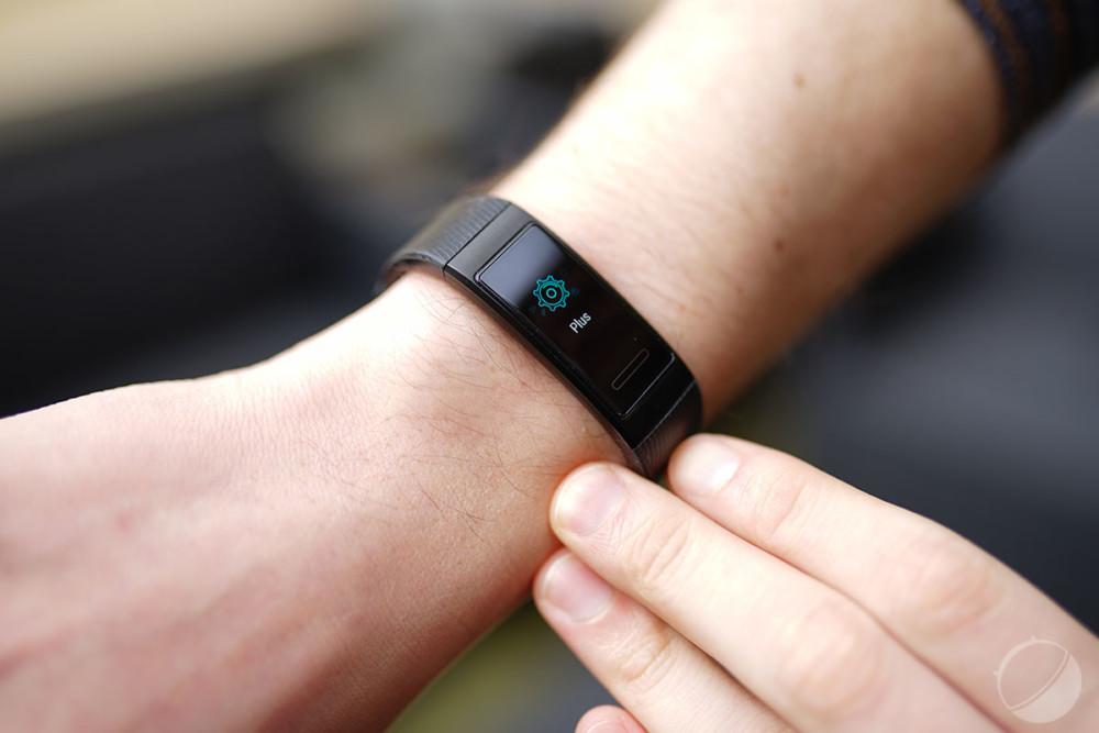 Le menu «Plus» permet d'accéder à certaines fonctions du bracelet