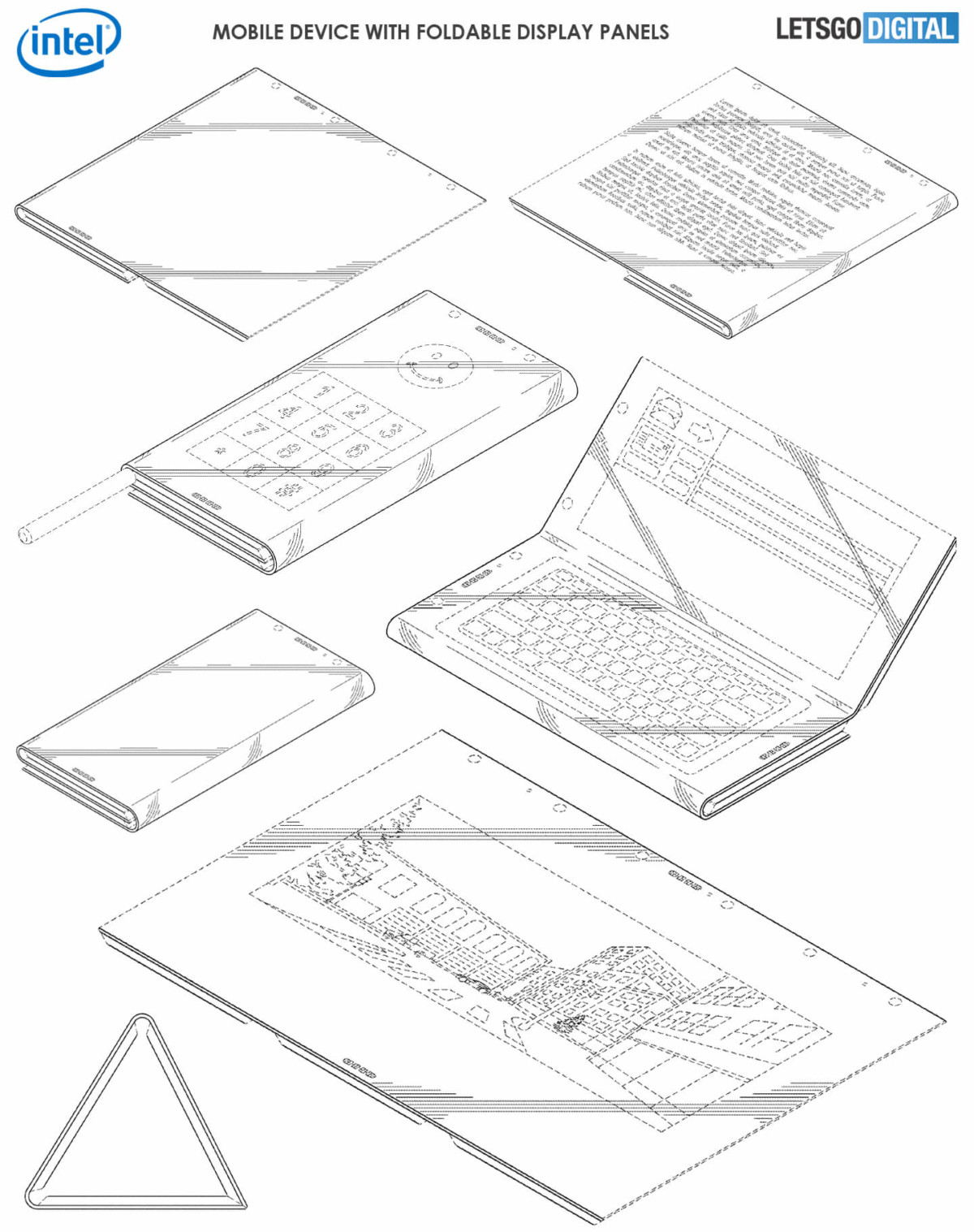 Les dessins décrivant le brevet d'Intel