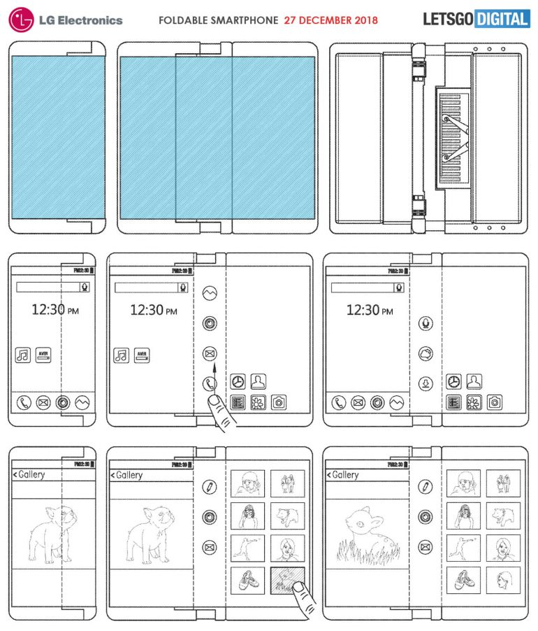 Une vidéo d'un smartphone qui se plie de chaque côté — Xiaomi
