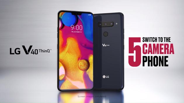 LG V40 ThinQ officialisé : cinq capteurs photo au total, mais « seulement » trois à l'arrière