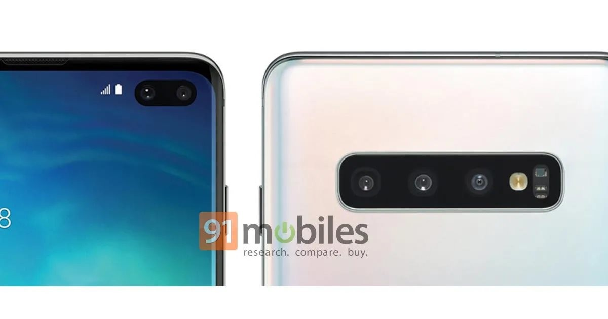 Rendu presse supposé du Galaxy S10+