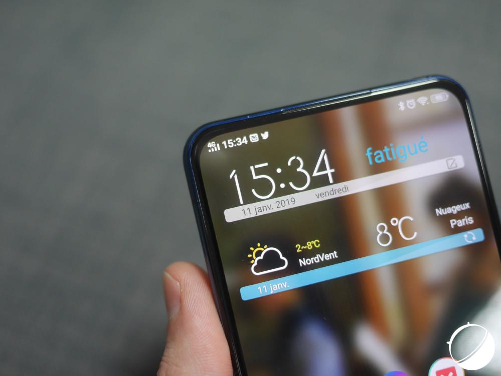 L'écran principal du Vivo Nex Dual Display