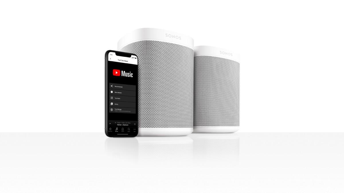 YouTube Music est désormais disponible sur les enceintes Sonos