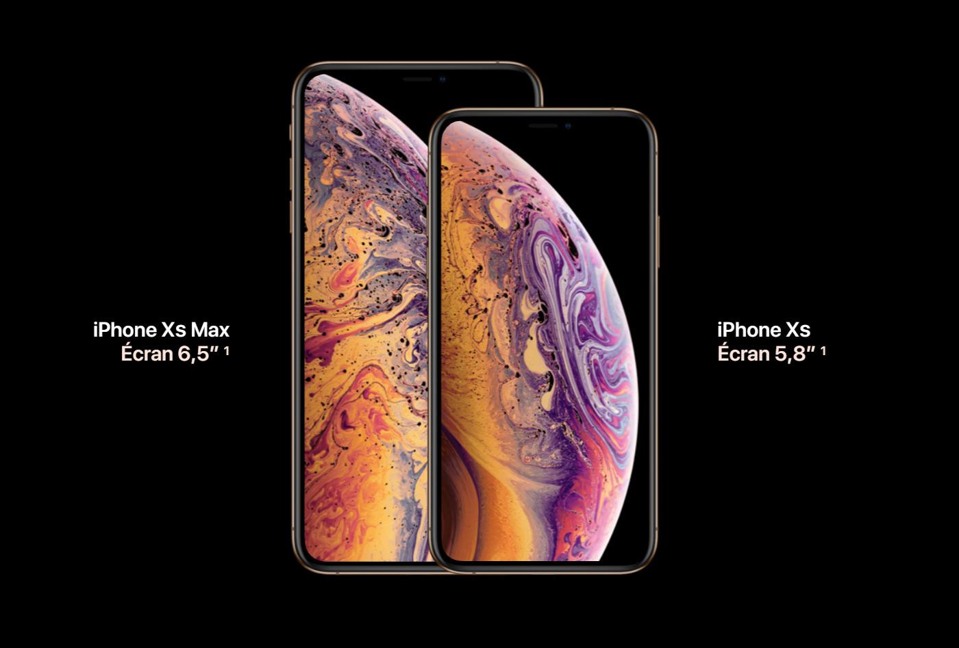 Une présentation des iPhone XS et iPhone XS Max