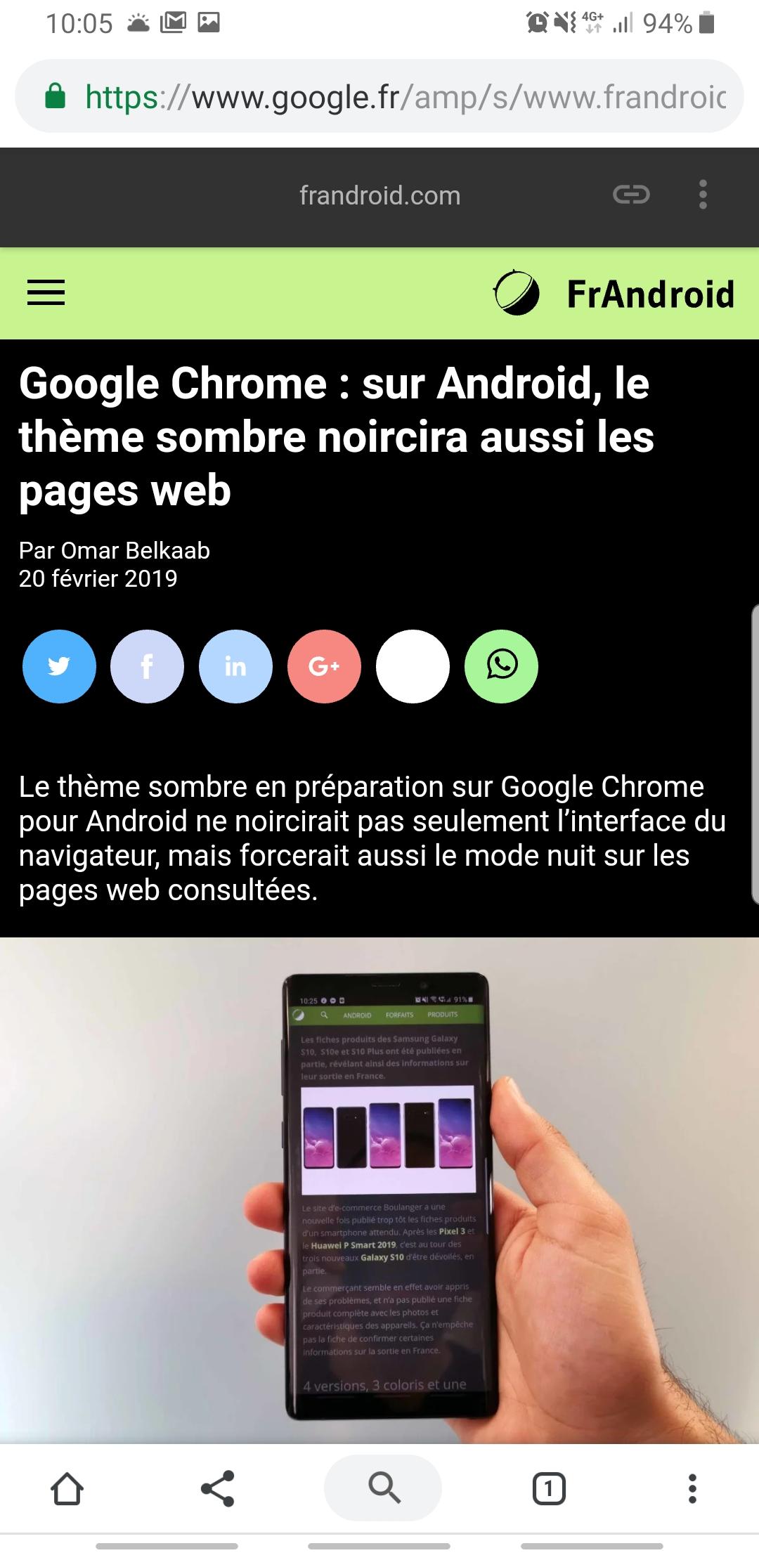 Chrome Android Dark Theme