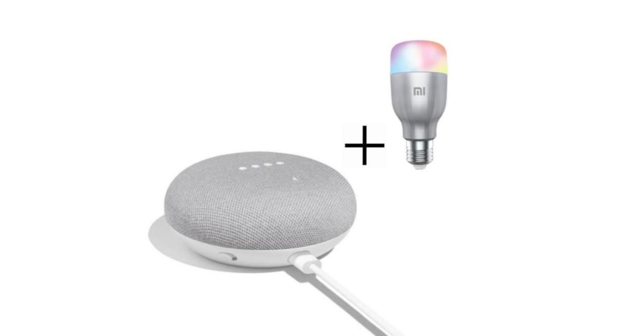 Dernières heures : le Google Home Mini avec une ampoule Xiaomi Mi LED Smart Bulb est à 59 euros jusqu'à lundi prochain