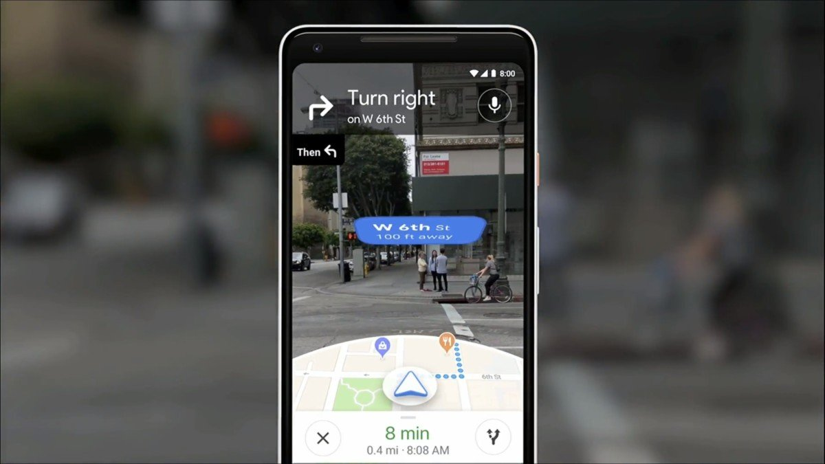 Interface de navigation en AR