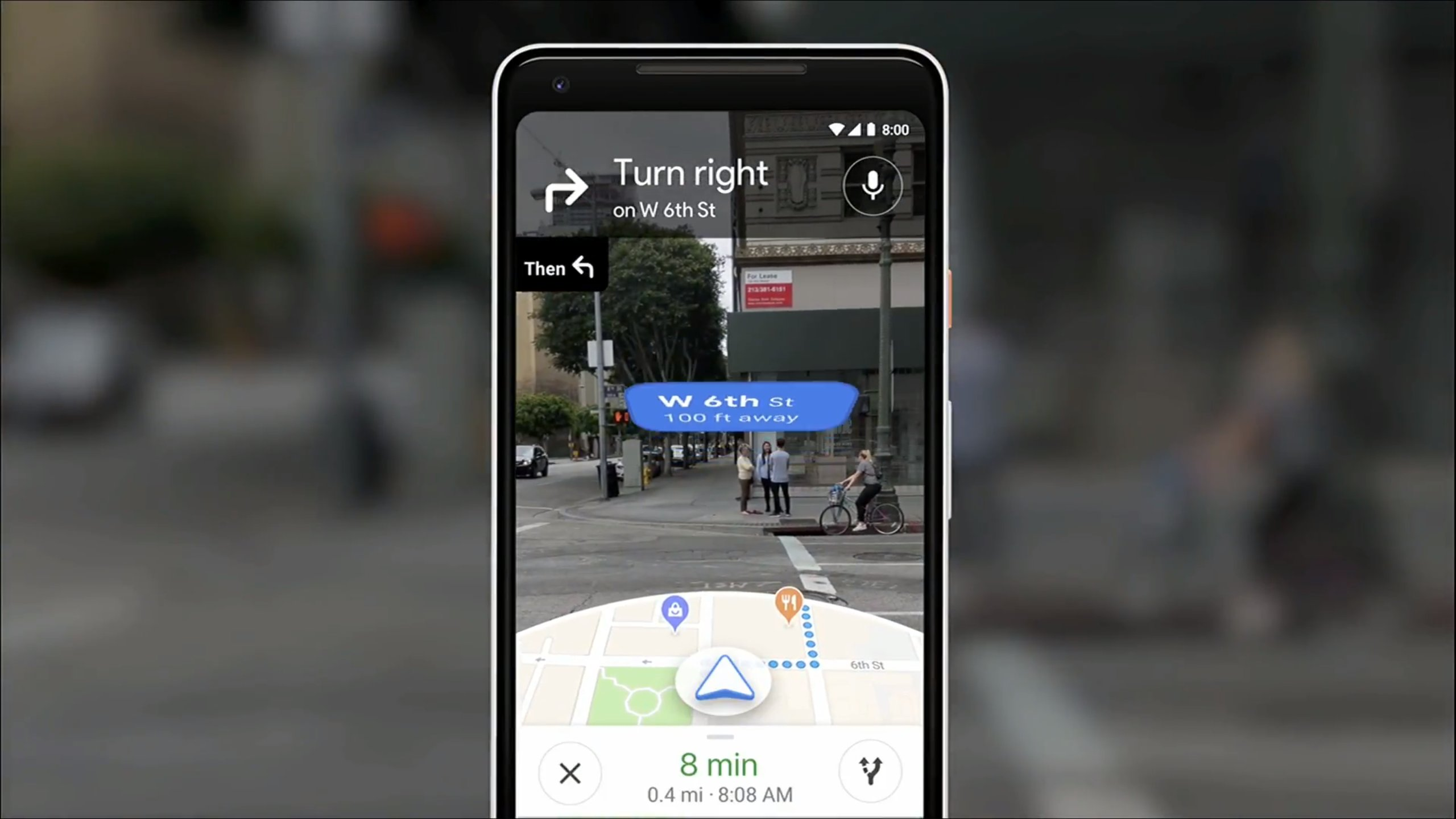 Interface de navigation en AR
