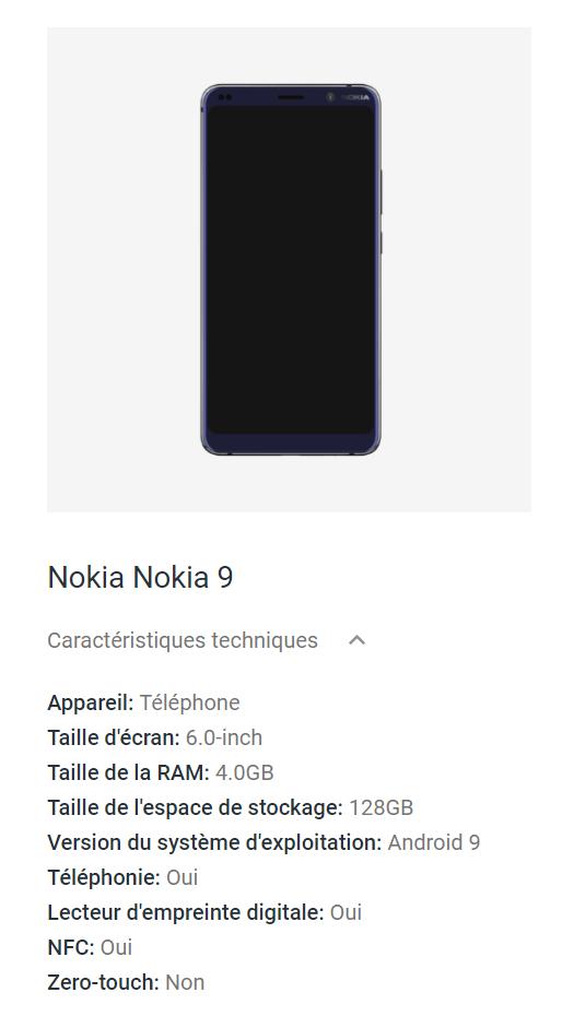 Nokia 9 Pureview : Google confirme les caractéristiques du smartphone aux 5 caméras