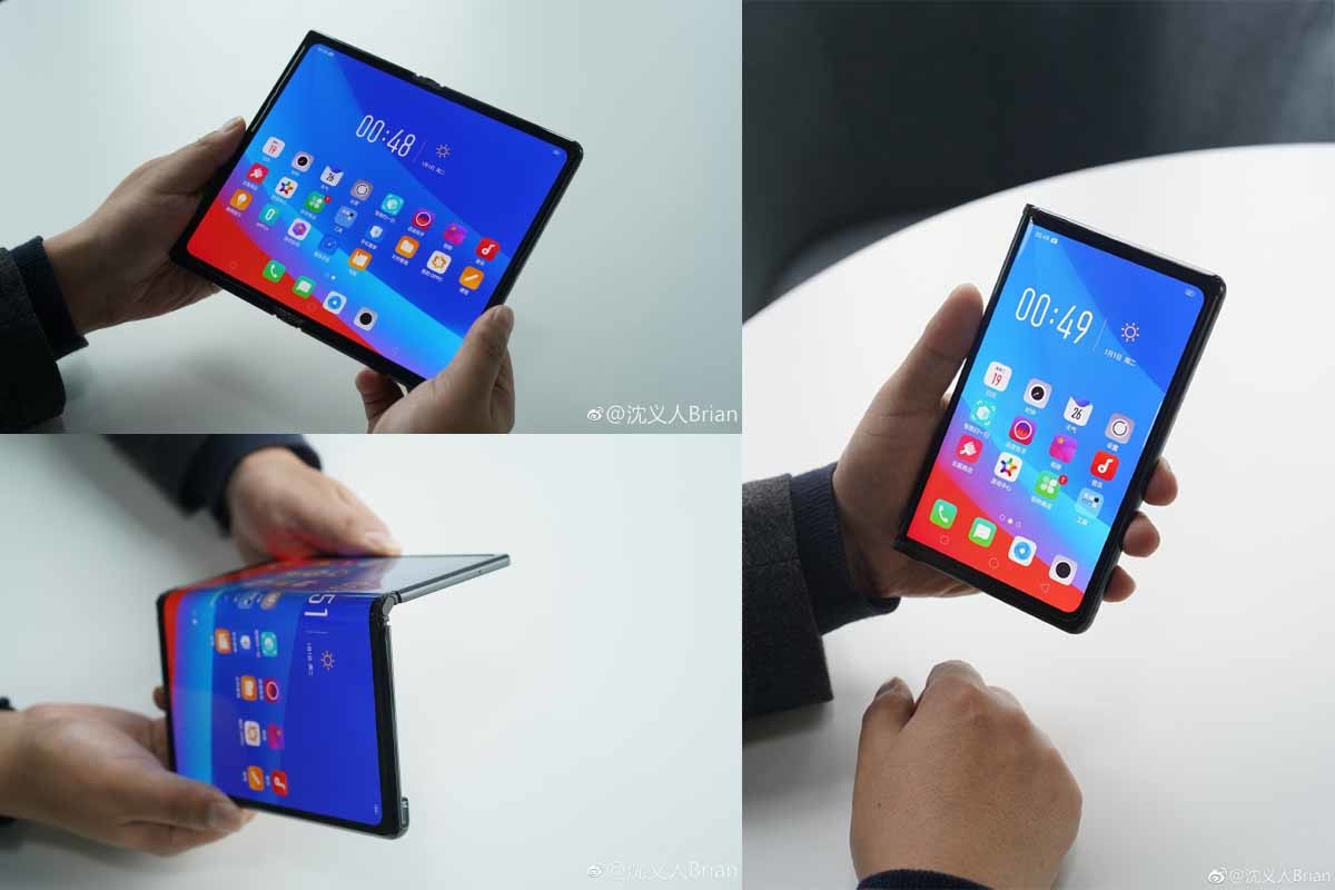 Ce prototype de smartphone pliable d'Oppo ressemble beaucoup au Huawei Mate X – MWC 2019