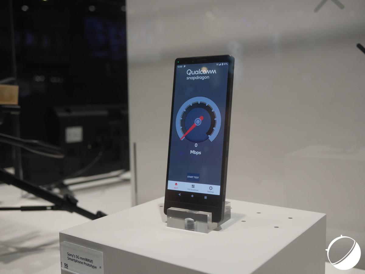 Le prototype de smartphone 5G de Sony