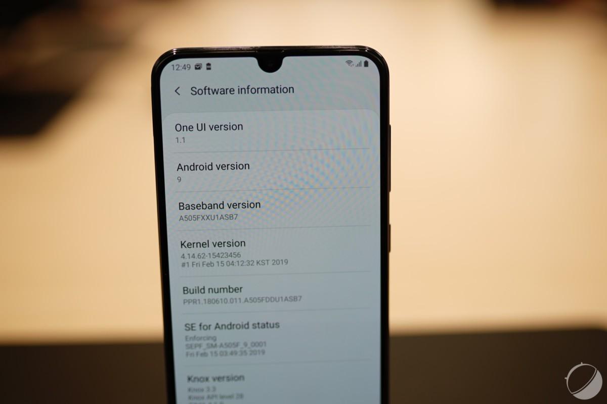 One UI 1.1 avec Android Pie
