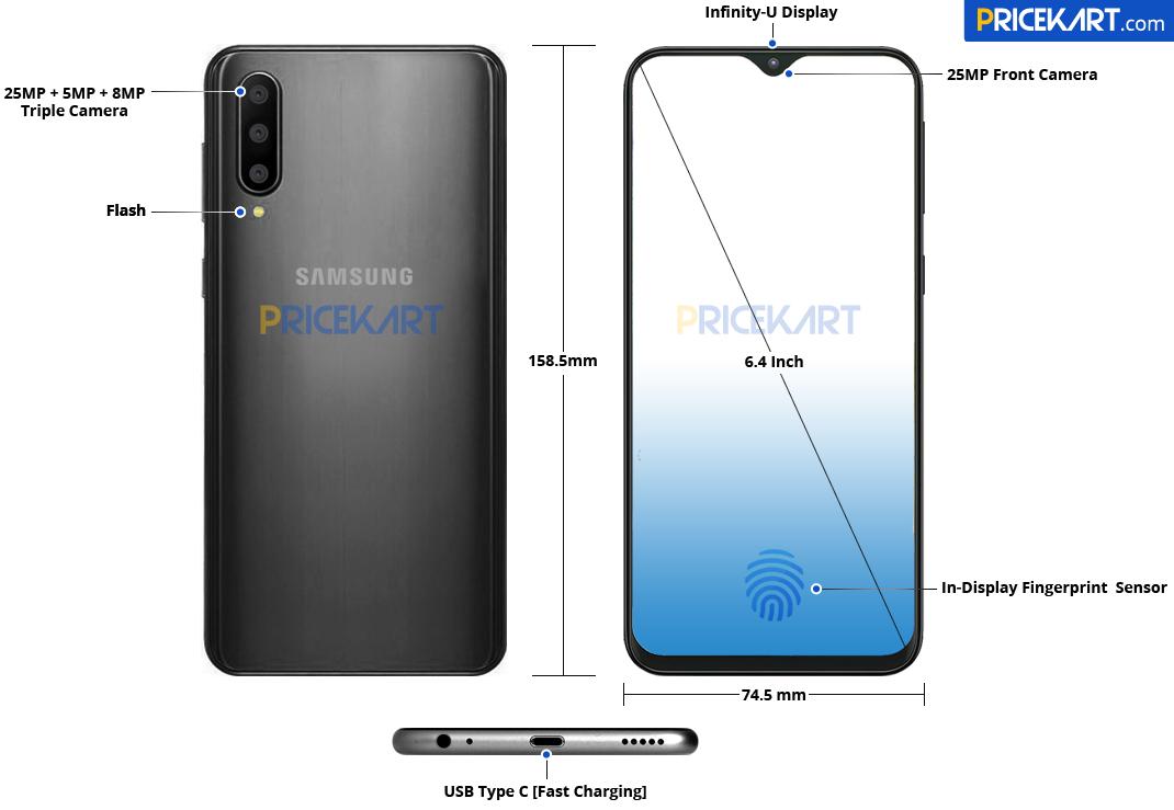 Le Samsung Galaxy A50 récapitule ses caractéristiques dans un nouveau rendu