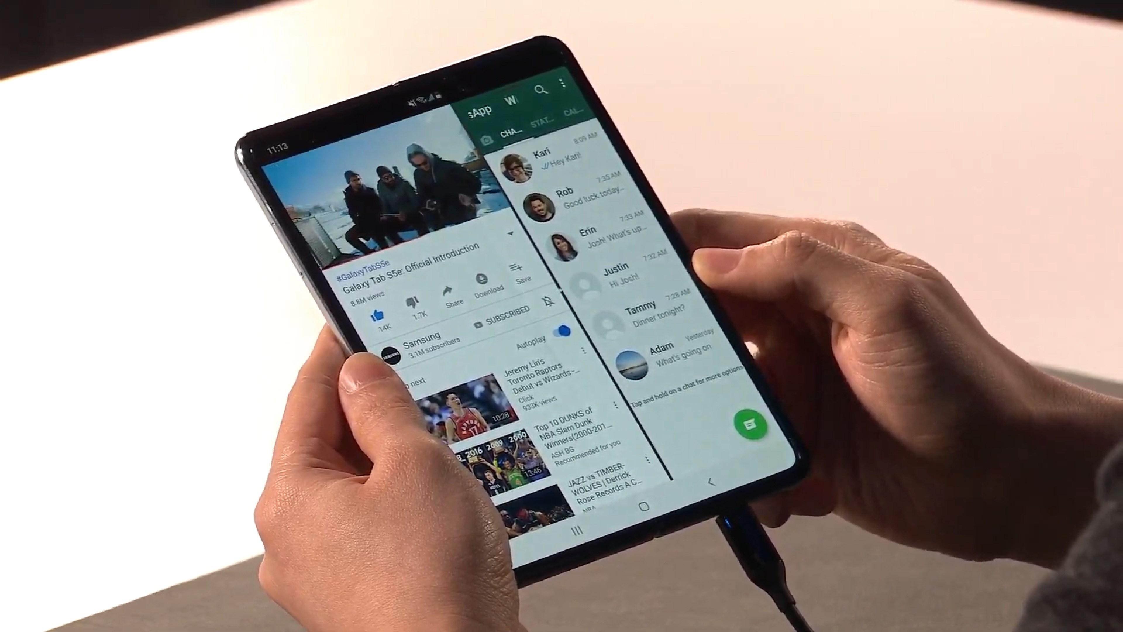 Pour Huawei, le Samsung Galaxy Fold est un mauvais design de smartphone pliable