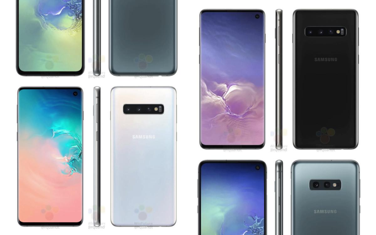 Les futurs Galaxy S10 (crédit : WinFuture)