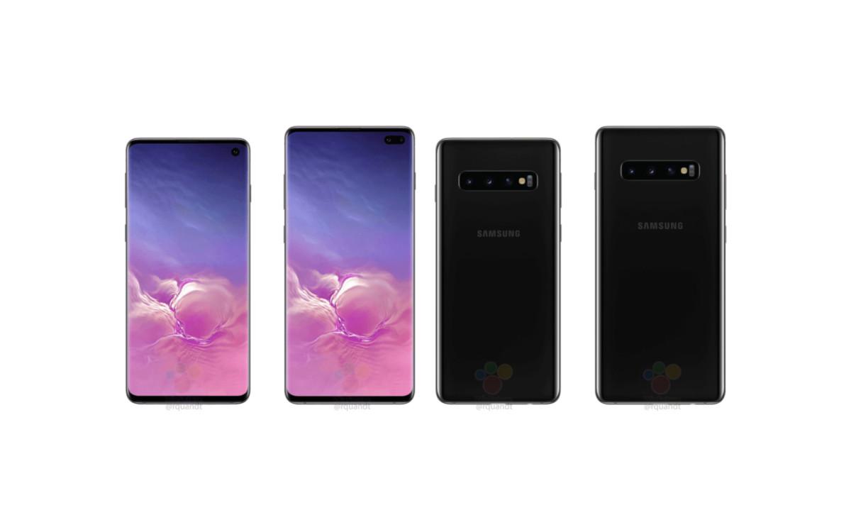 Rendu presse supposé des Galaxy S10 et S10+