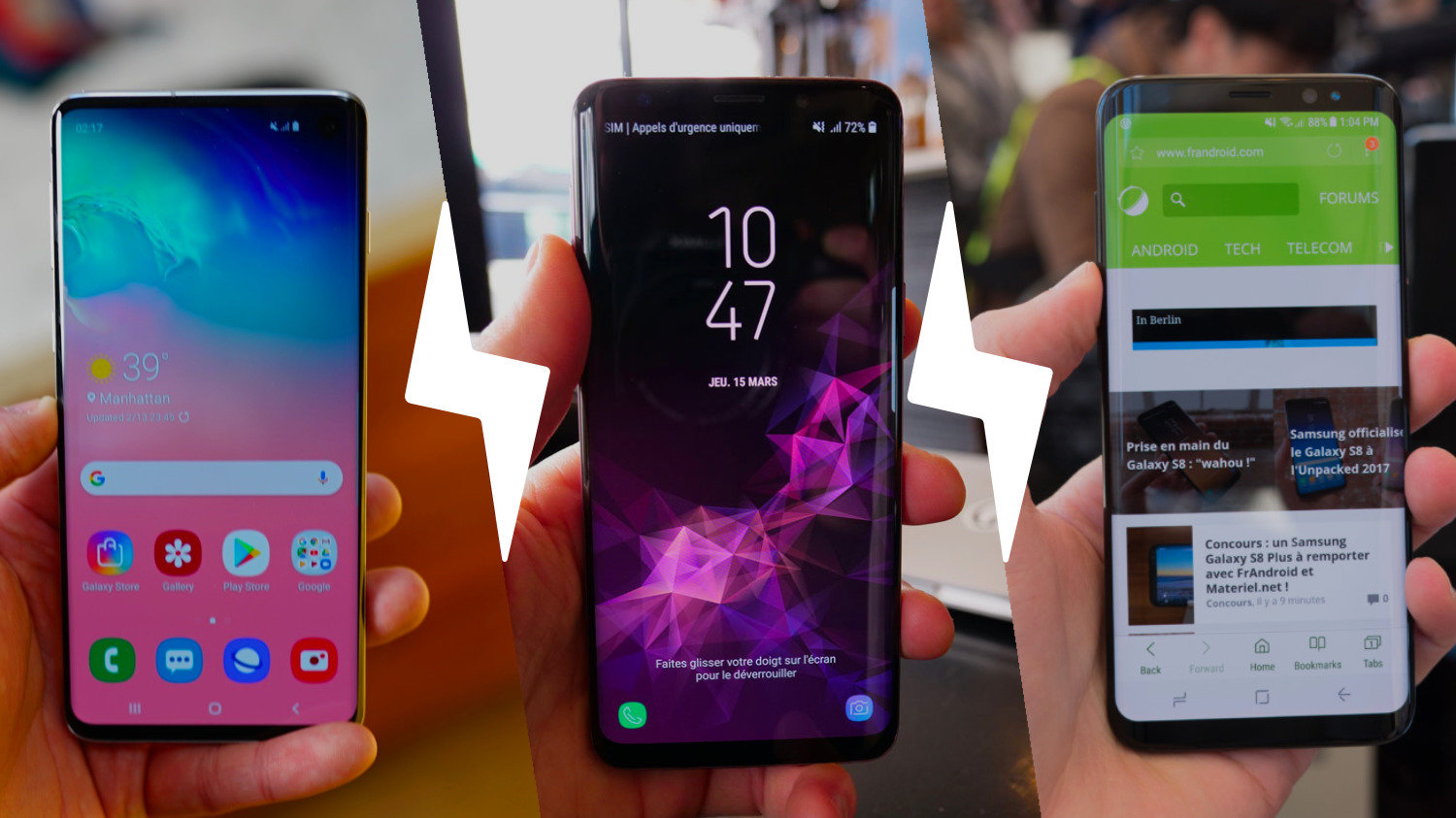 comparatif smartphone androide
