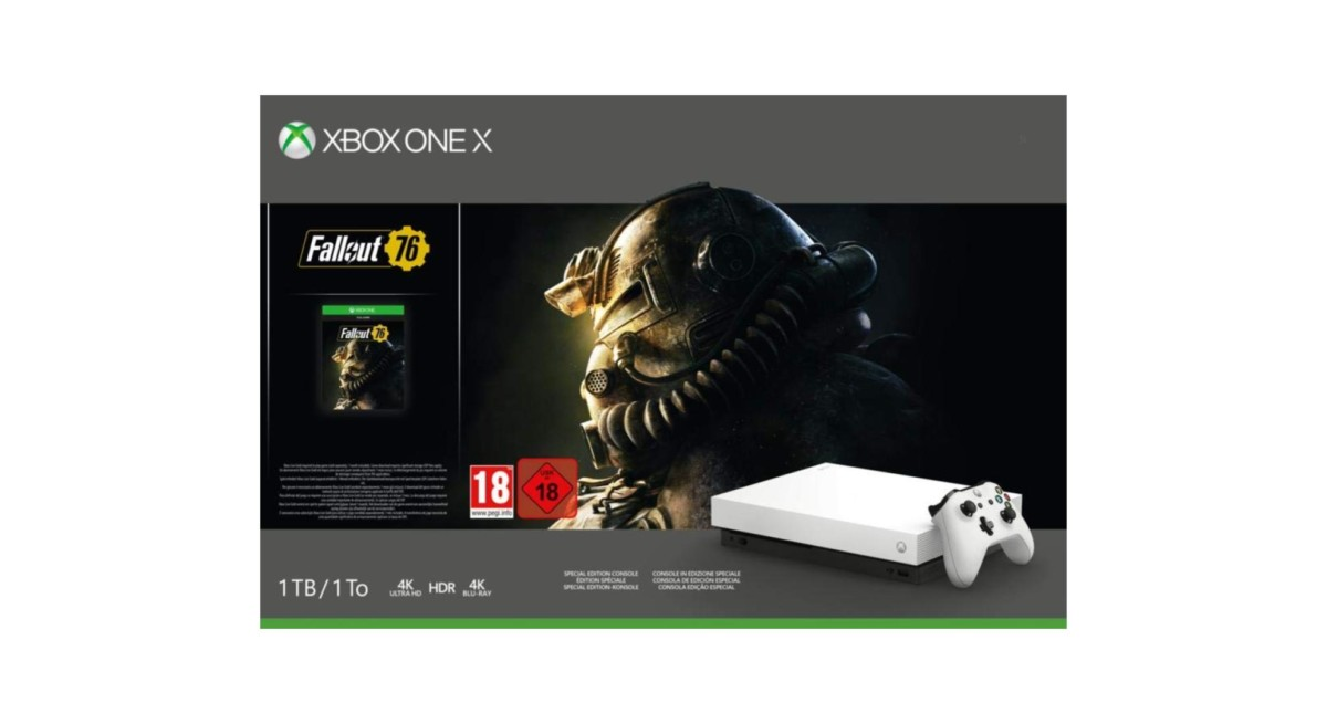 🔥 Bon plan : le pack Xbox One X (édition limitée avec Fallout 76) est à 379 euros au lieu de 499 euros
