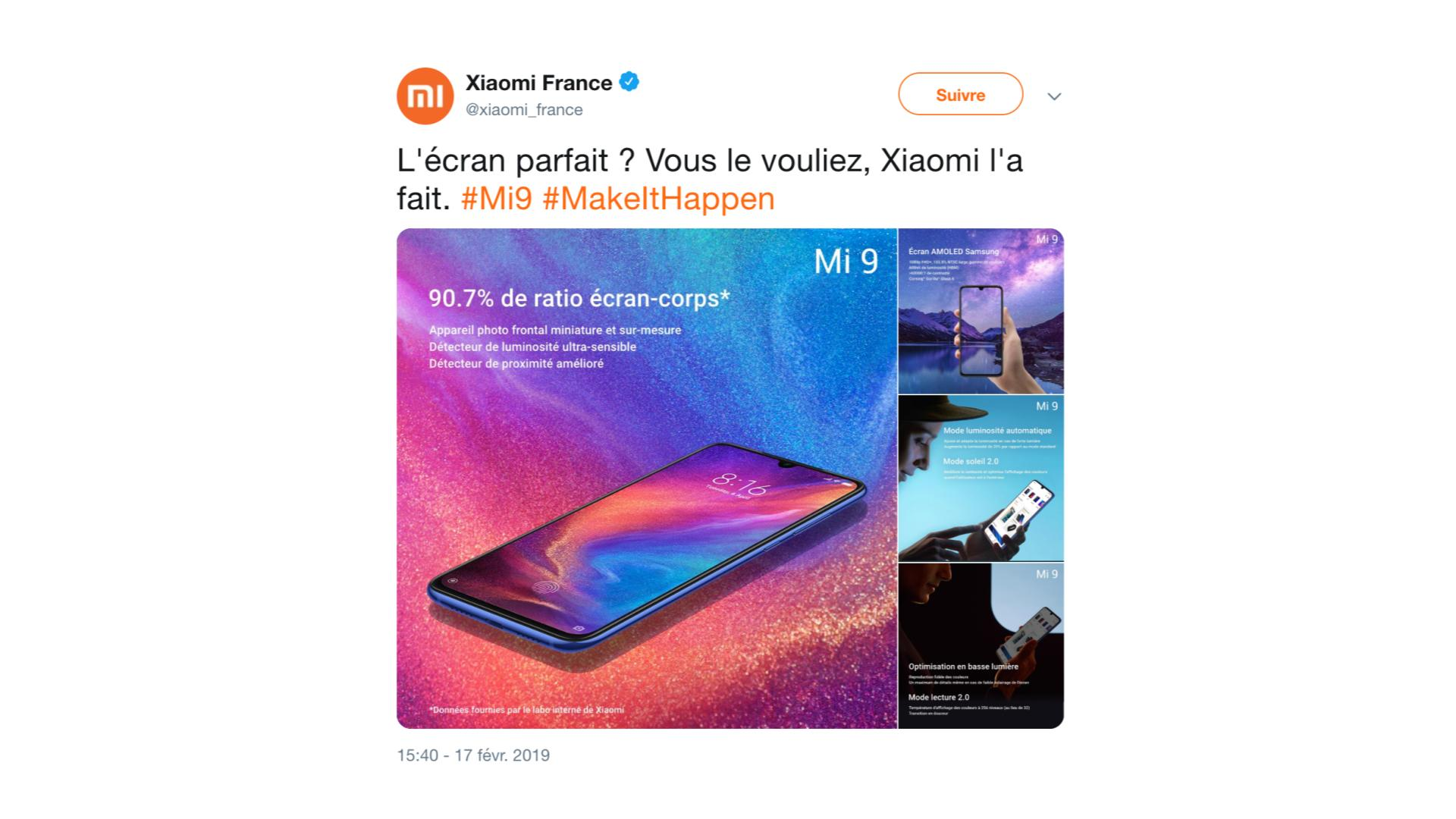 698f6444df Il y a quelques jours, Xiaomi postait quelques photos du design de  l'appareil et évoquait le module triple caméra à l'arrière. On a également  appris qu'une ...