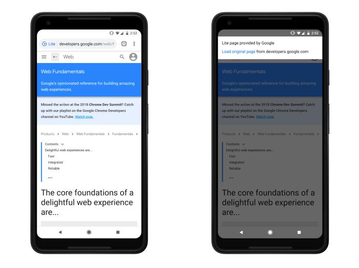 Google Chrome 73 sur Android : le design des téléchargements est revu et clarifié