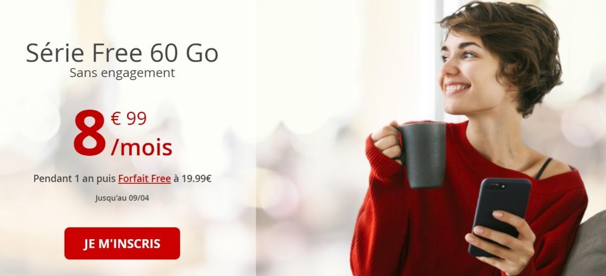 🔥 Bon plan : Free relance sa série limitée mobile 60 Go à 8,99 euros