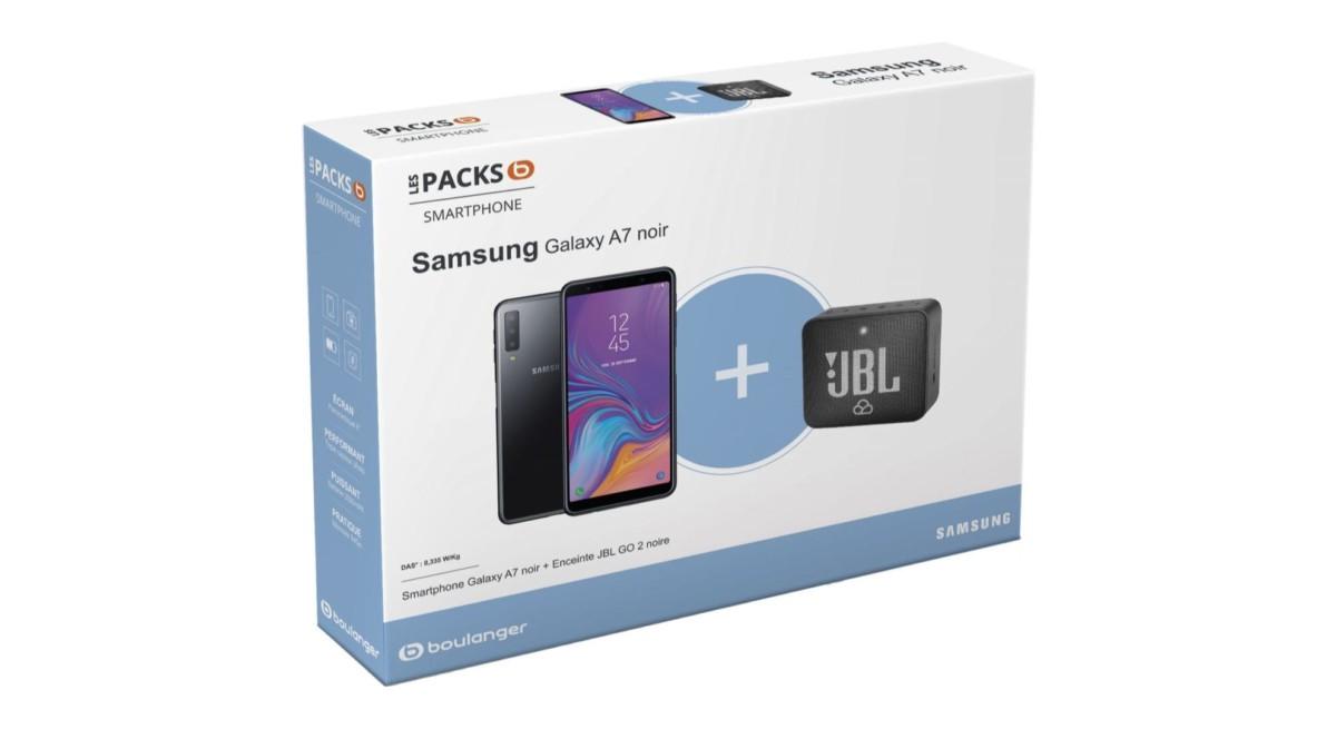 🔥 French Days : 249 euros pour un pack Samsung Galaxy A7 (2018) avec une enceinte JBL Go 2