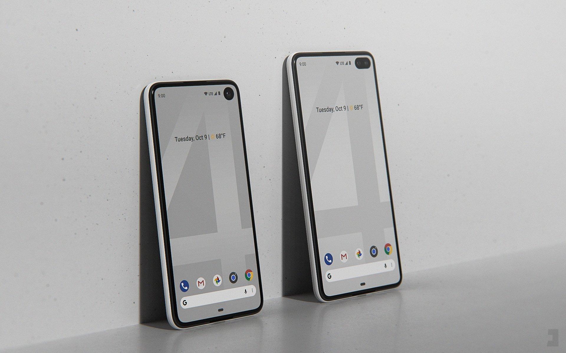 Concept des Pixel 4 et Pixel 4 XL. Crédit : Phone Designer