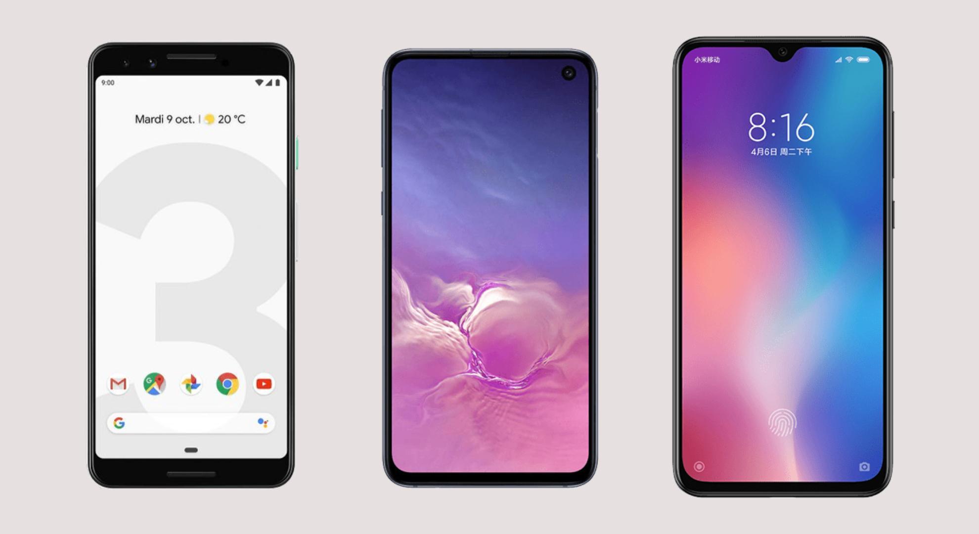comparatif téléphone portable android