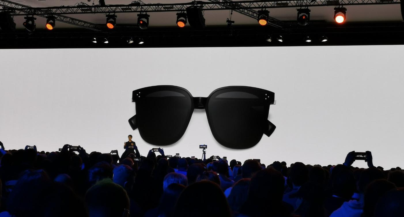 7d23eb9870 La marque chinoise, qui aime rappeler qu'elle est devant Apple, a également  annoncé de curieuses lunettes connectées.