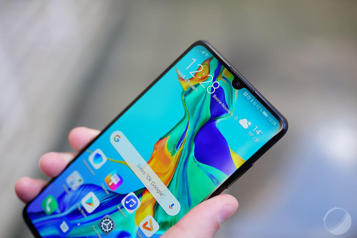 L'écran du Huawei P30