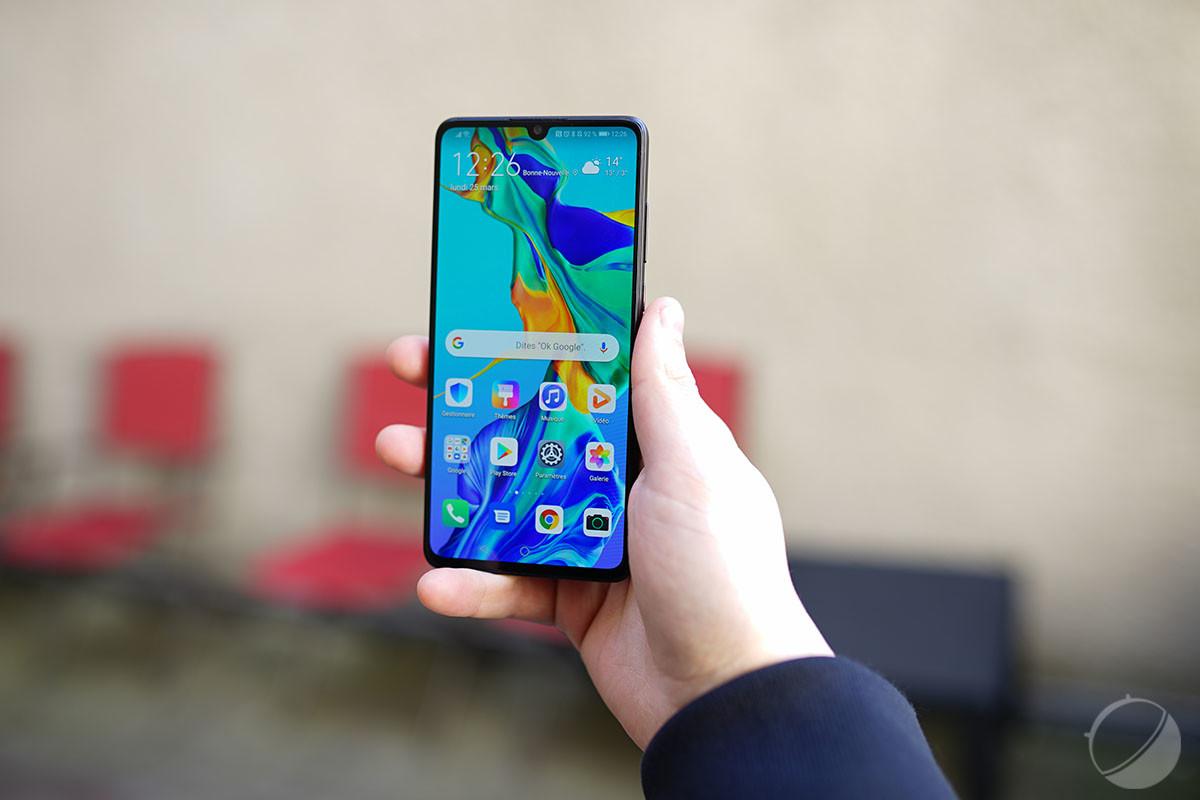 L'écran du HuaweiP30 est très lumineux