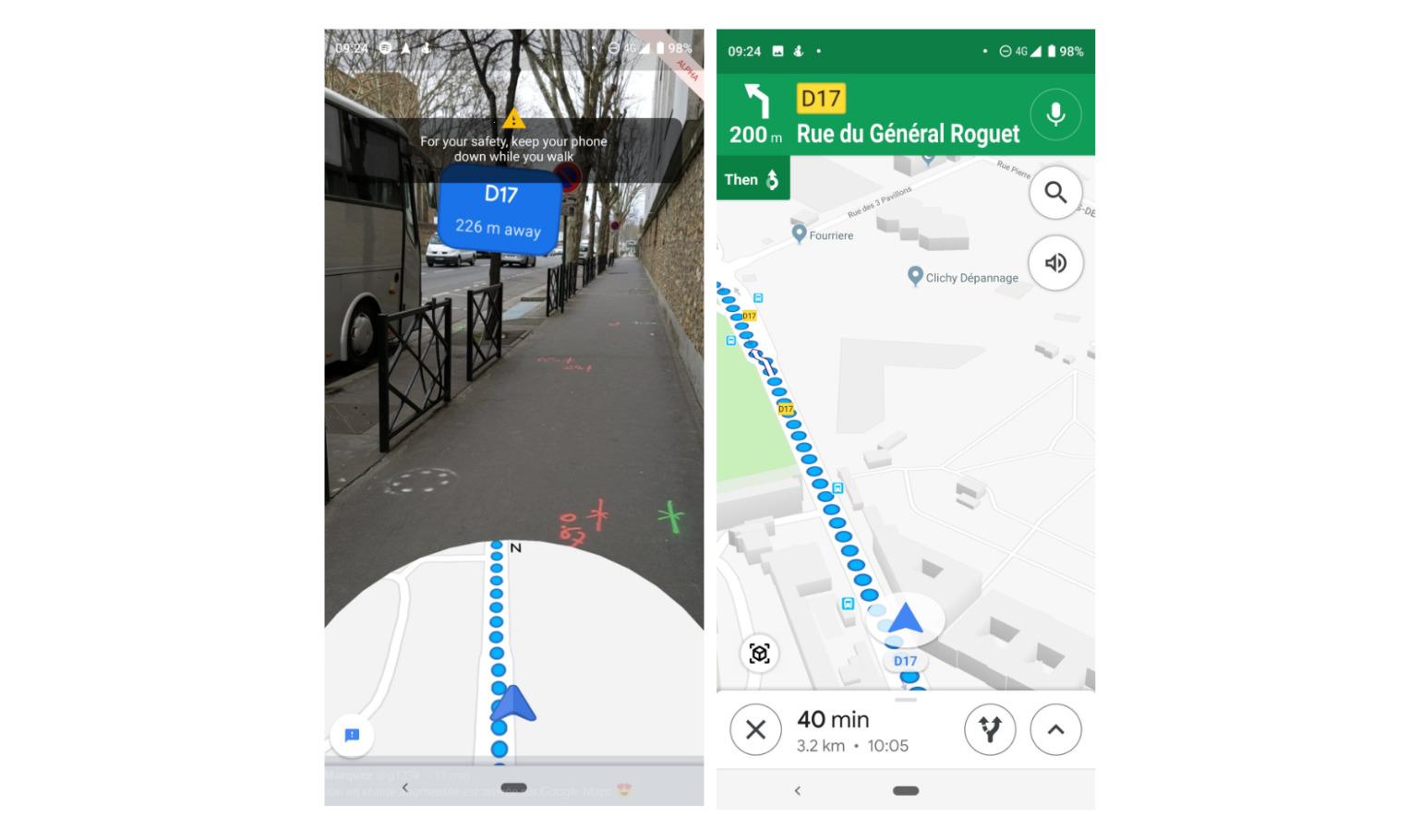 34c8e02ee5b Ce dernier se déploie au fur et à mesure chez les utilisateurs. Nous avons  eu l occasion de tester l AR sur Google Maps.