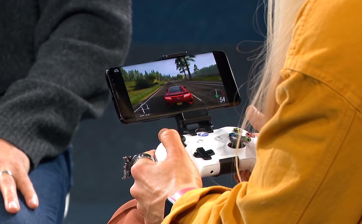 Forza Horizon en streaming sur un smartphone