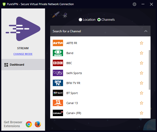 PureVPN mode streaming