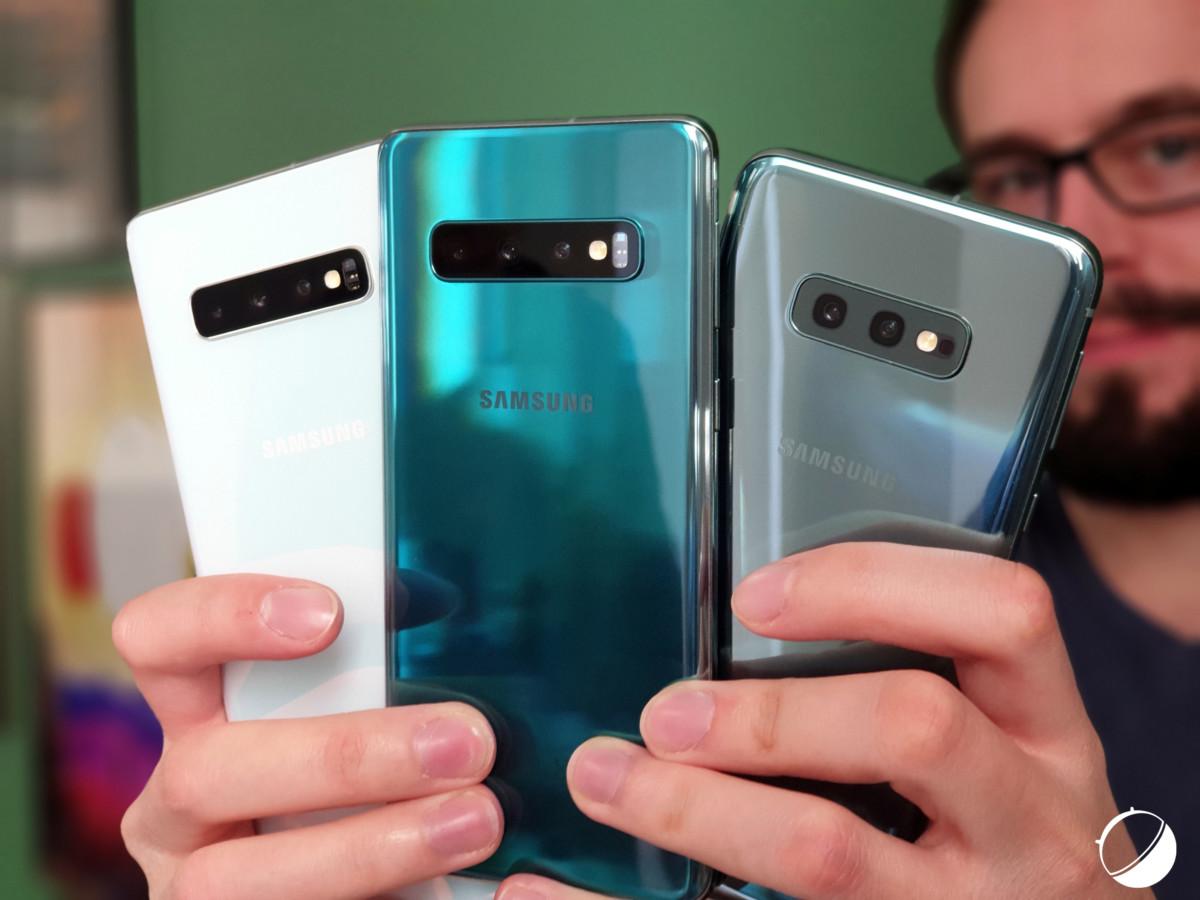 Samsung GalaxyS10e, S10 et S10+