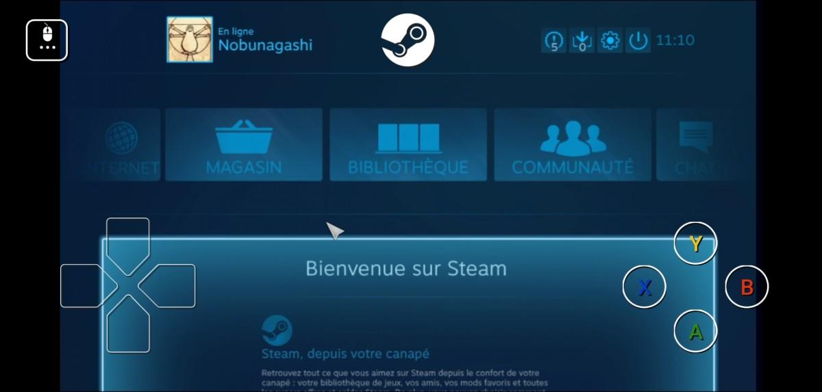 Steam Link sur smartphone