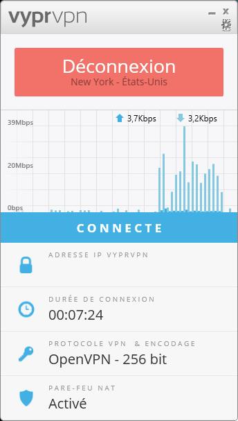 VyrprVPN interface