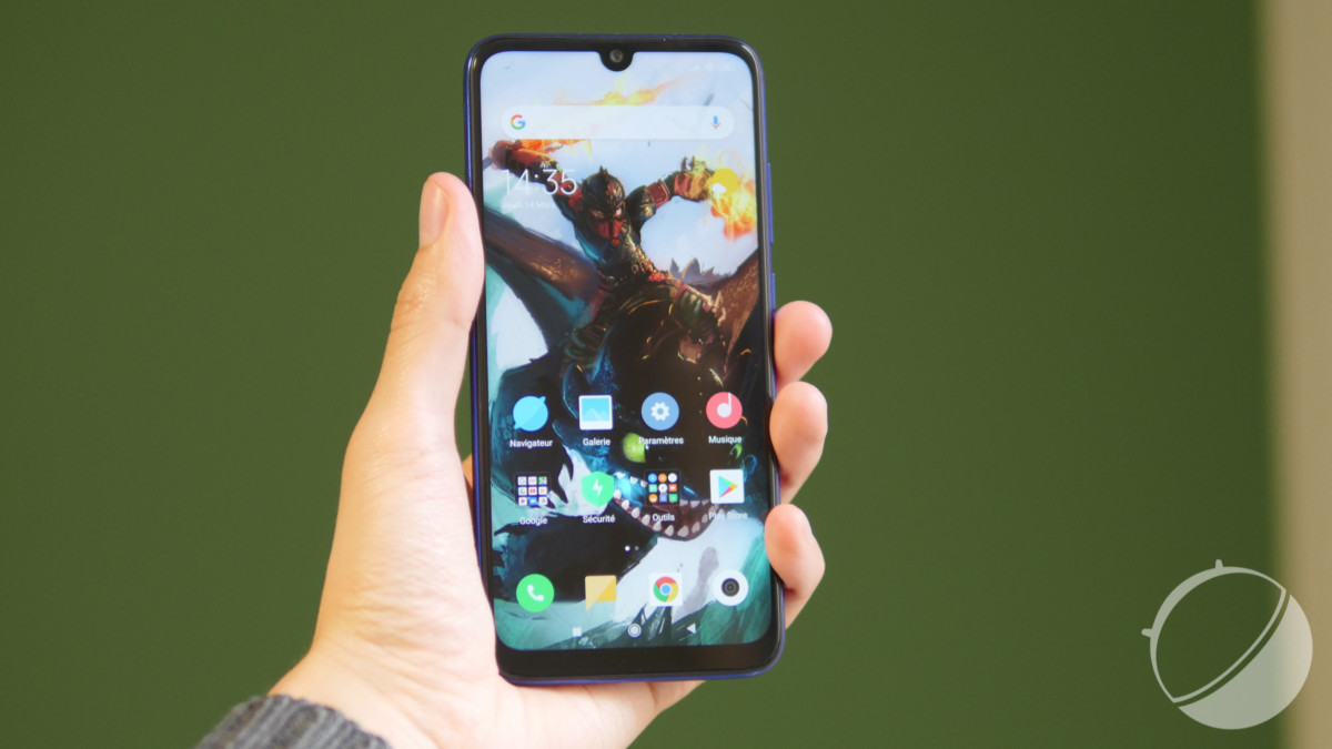 Le Xiaomi Redmi Note 7 pour illustration