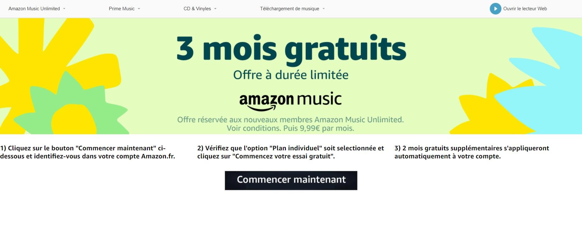 aba4a9e21b7af ... Amazon Music Unlimited, le service de streaming musical d'Amazon,  pendant 3 mois grâce à une offre promotionnelle réservée au nouveaux  clients.