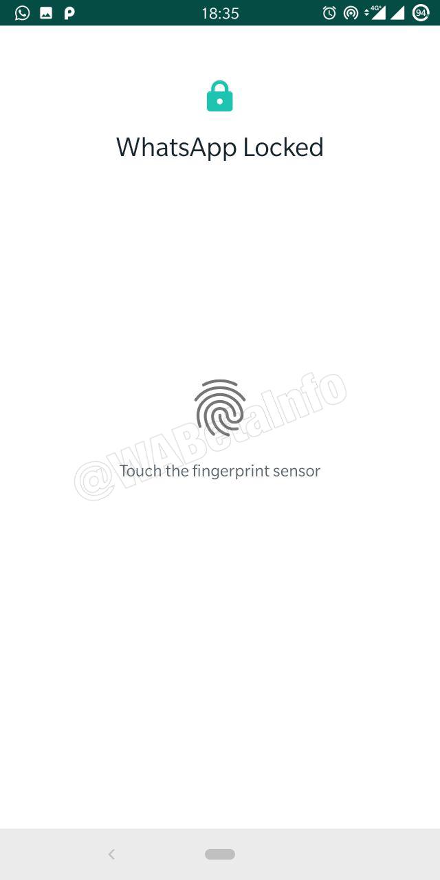 Voilà ce à quoi devrait ressembler la page d'authentification par empreinte digitale de WhatsApp