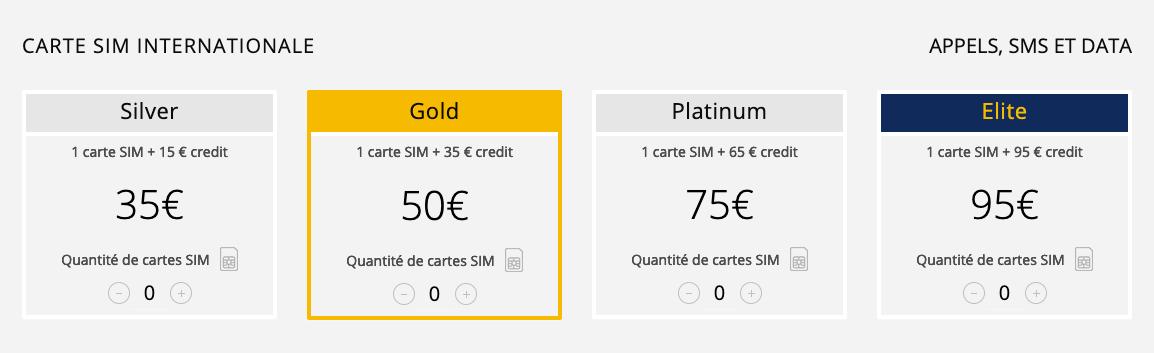 Les différents tarifs de la carte SIM internationale Explod.