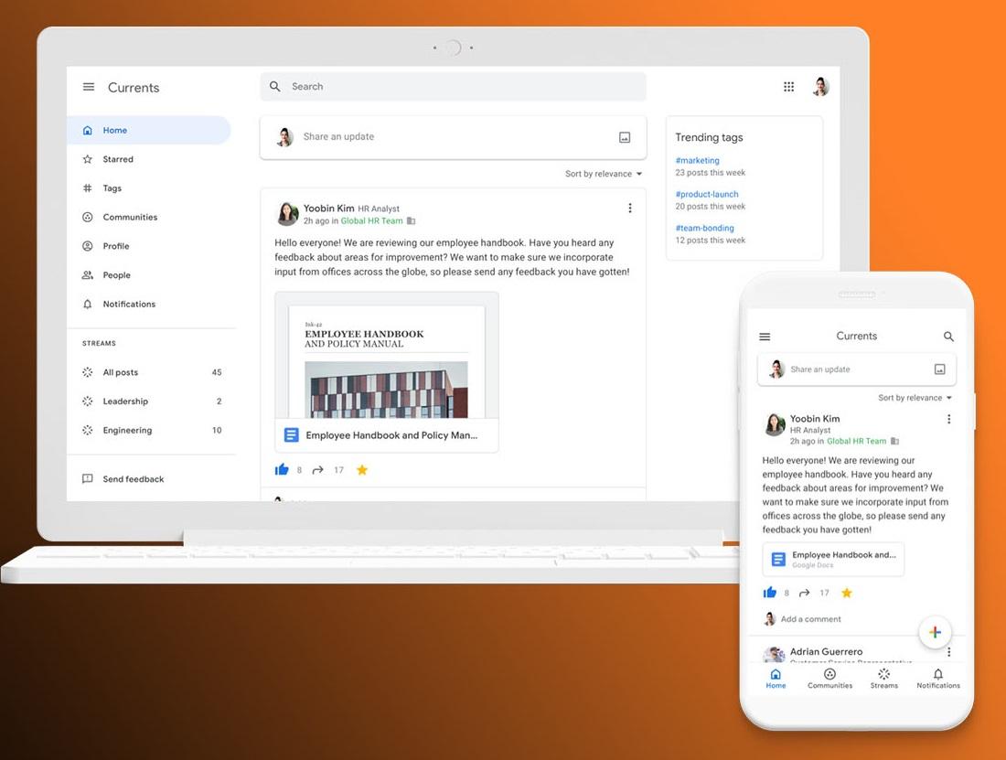 Avec Currents, Google offre une deuxième vie à Google Plus