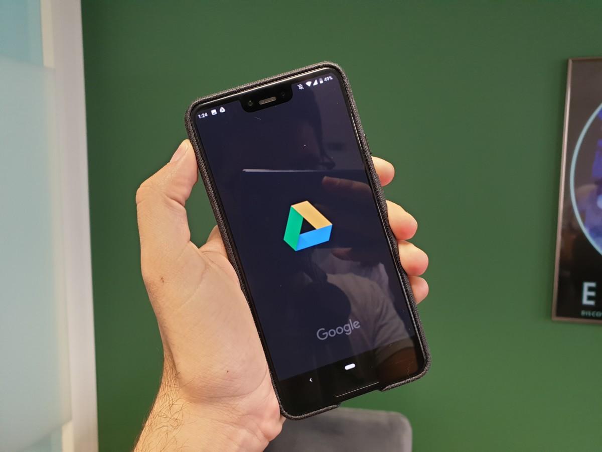 L'application Google Drive sur un smartphone