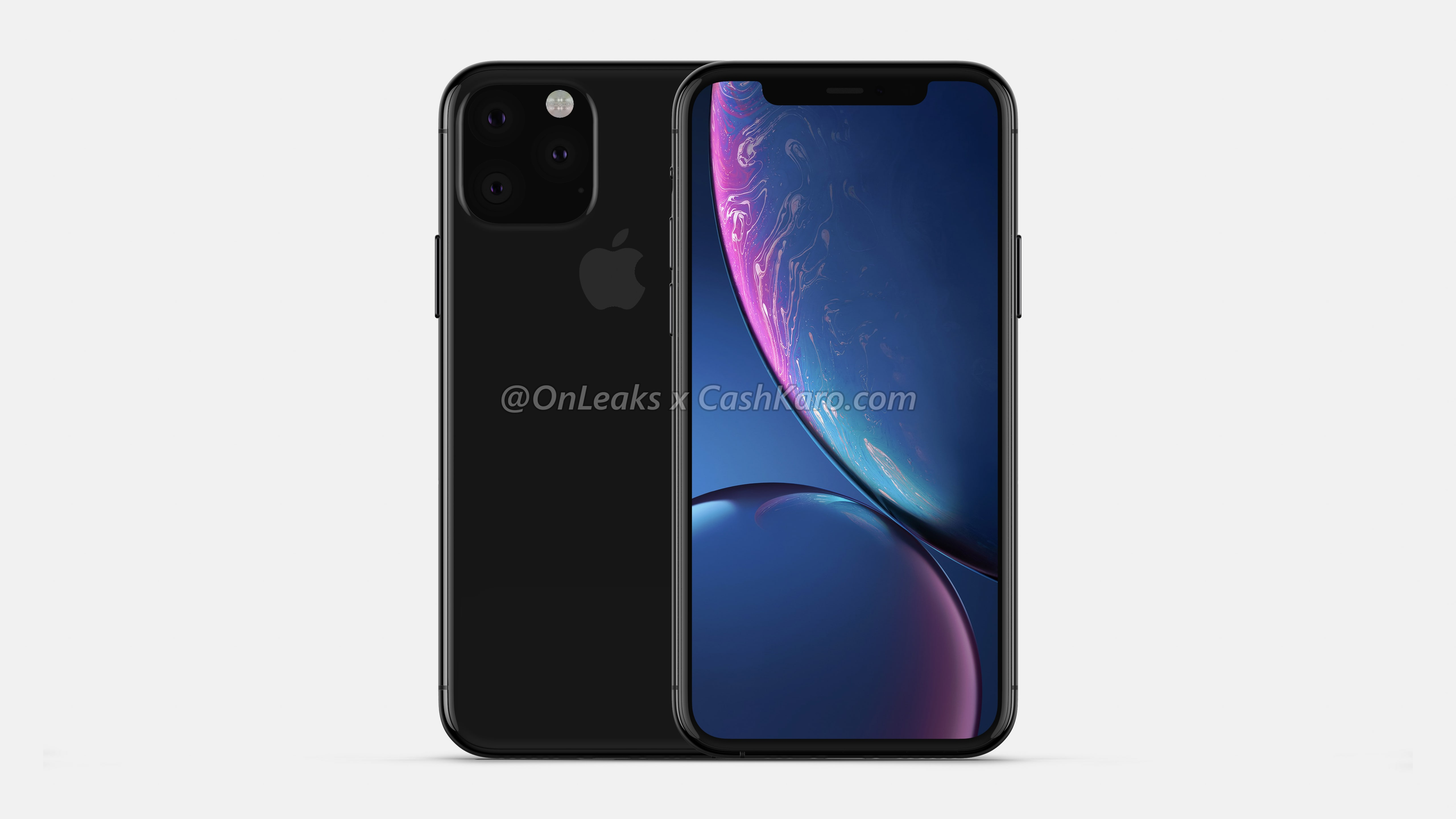 Apple iPhone XI : design, grosse encoche et appareil photo triangulaire