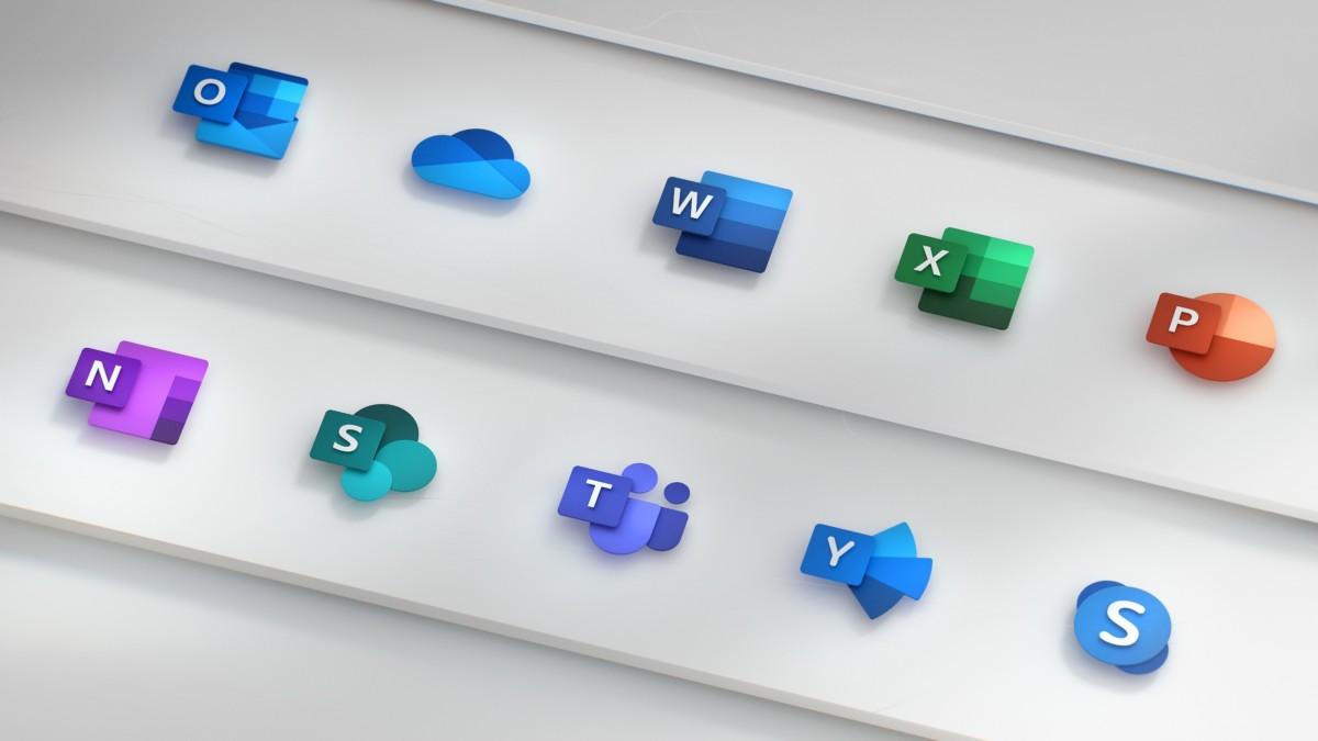Nouvelles icônes des logiciels Microsoft