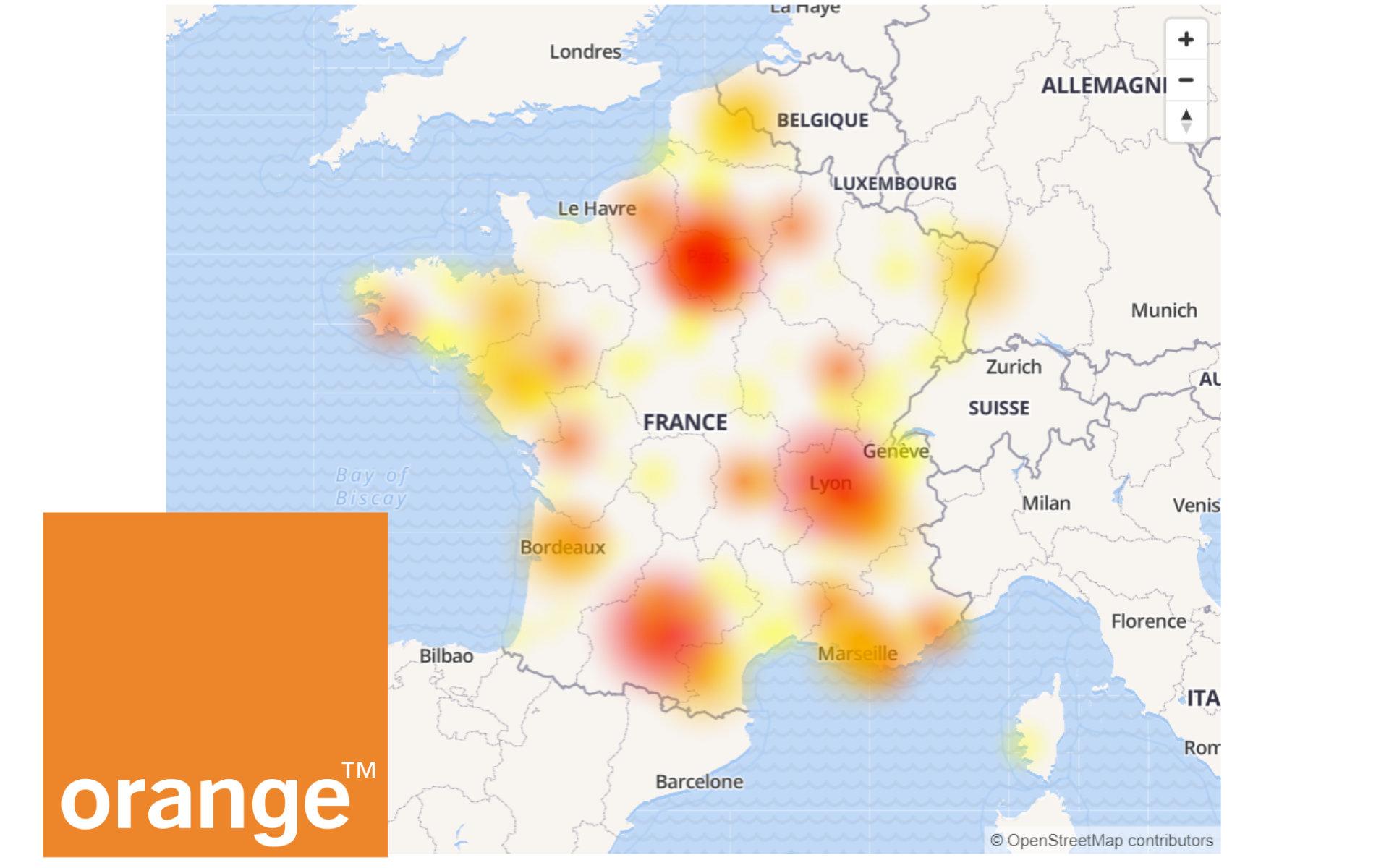L'opérateur Orange paralysé par une panne géante — G et Internet