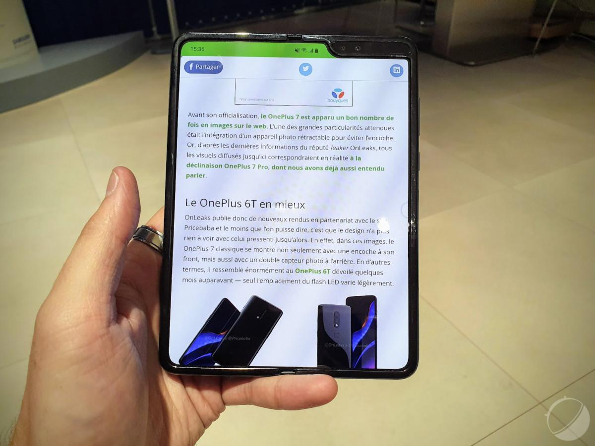 Samsung Galaxy Fold : le smartphone pliable est « prêt à être lancé »
