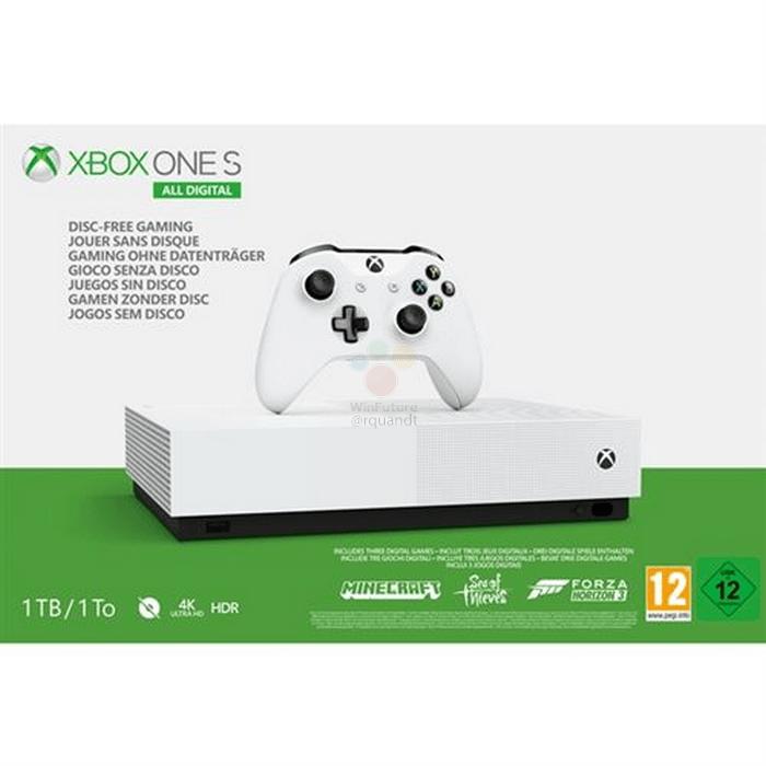 Xbox One S Digital : la console de Microsoft présentée le 16 avril ?