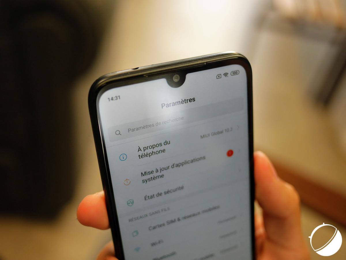 L'encoche du Xiaomi Redmi7