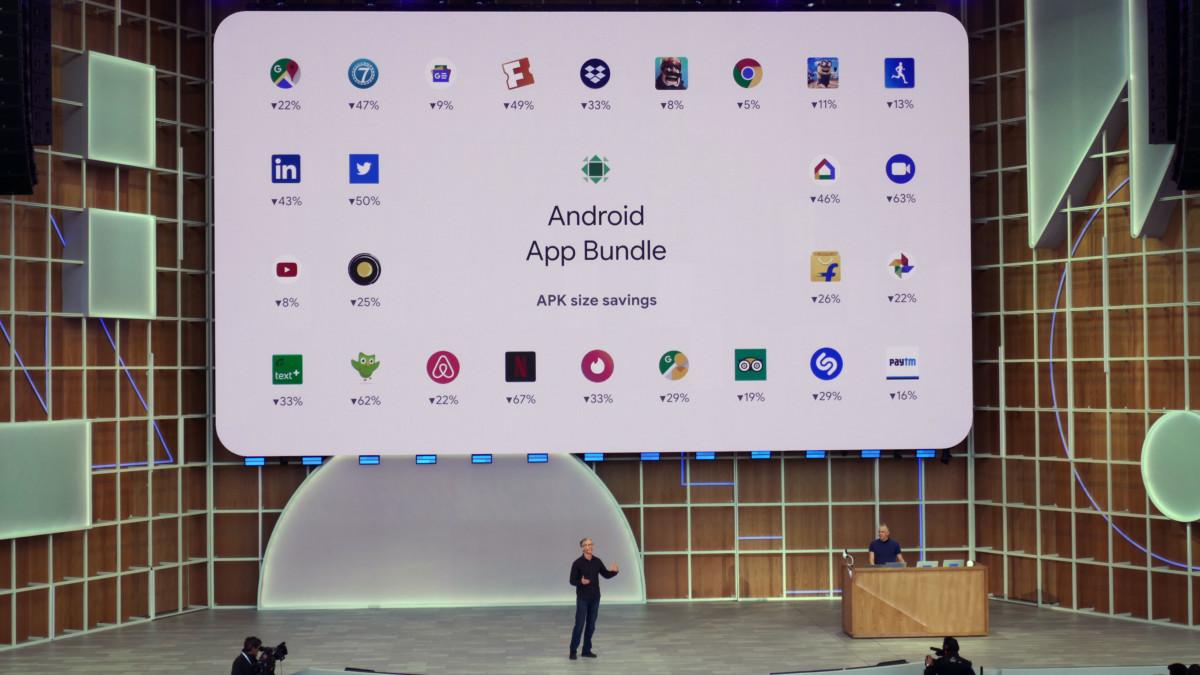 Les App Bundle permettent de réduire significativement la taille des applications